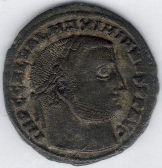 Tmm 293 - 311 Ad Roman Imperial Ae Follis Galerius Vf photo