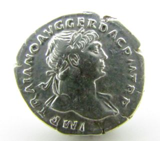 Perfect Authentic Denarius Of Emperor Trajan - Victoria Reverse photo