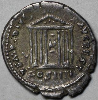 Ex Cng Temple Divus Avgvstvs & Livia Architectural Denarius Of Antoninus Pius photo