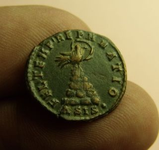 Ancient Roman Ae3,  Constans,  Phoenix.  22mm,  4.  1g,  348 - 350 Ad,  Fel Temp Reparatio photo