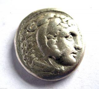 C.  281 B.  C Ancient Greece Alexander Iii Silver Tetra - Drachma Coin.  Babylon.  Vf photo