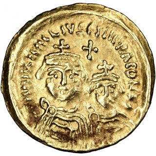 Bysantine Empire,  Héraclius And Héraclius Constantin,  Solidus photo