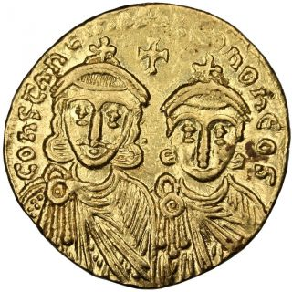 Bysantine Empire,  Constantin V Et Leon Iv,  Solidus photo