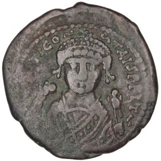 Bysantine Empire,  Tibère Ii Constantin,  Follis photo