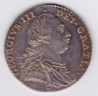 George Iii Silver Shilling No Hearts photo