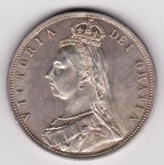 Gb Qv 1887 Half Crown A Uuc photo