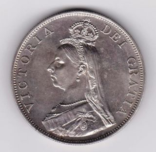 Gb Qv 1887 Double Florin (4 Shillings) Arabic I photo