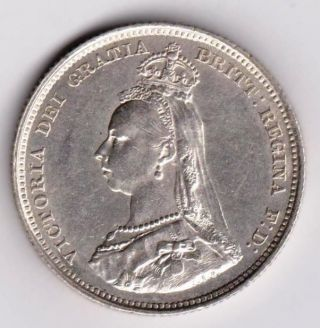 Gb Qv Shilling 1887 Ef photo