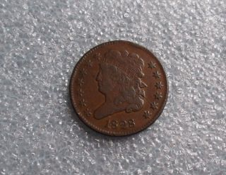 1828 13 Stars Liberty Half Cent - Uncleaned & - Vf+ 3600 photo