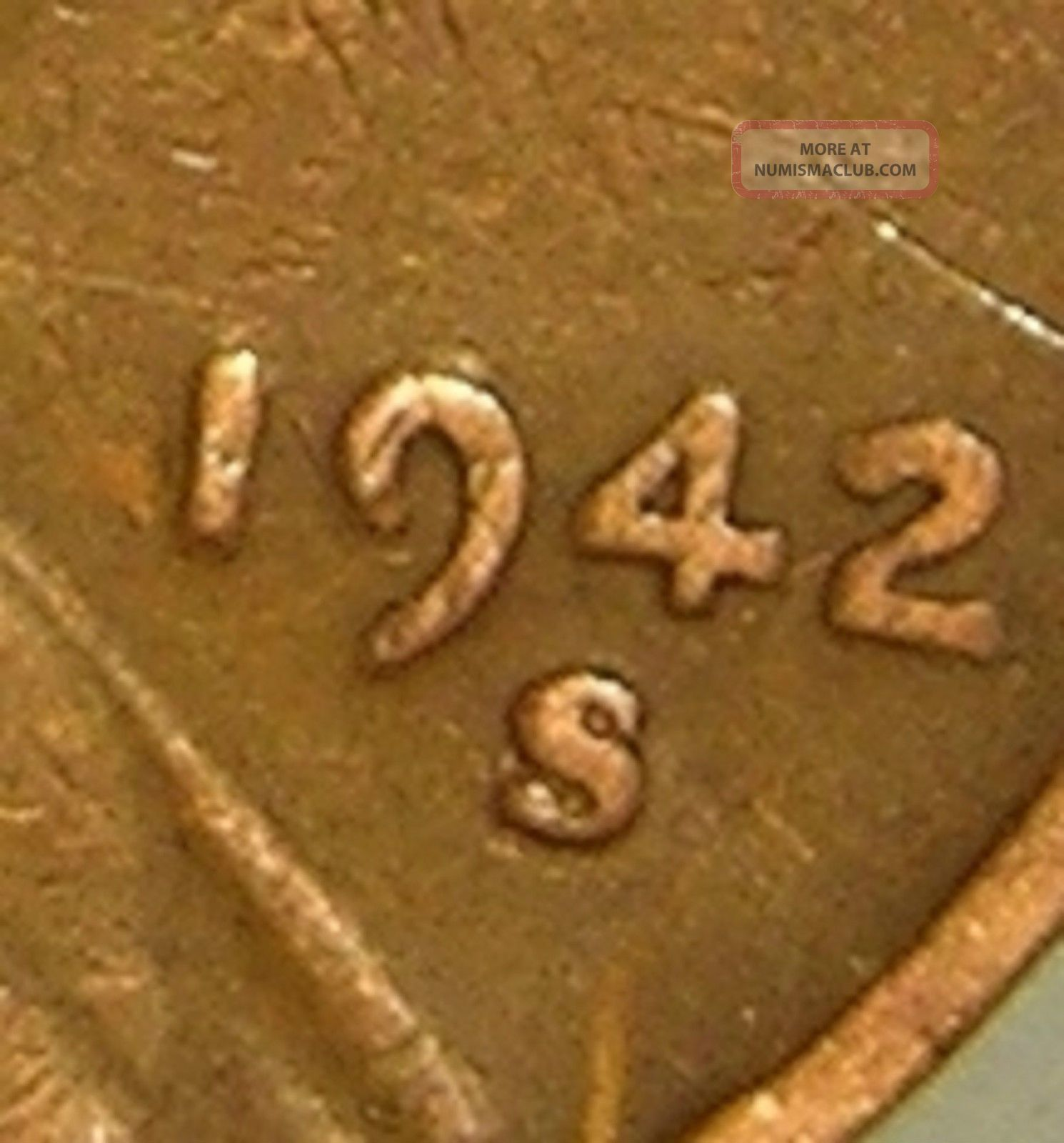 1942 S S Lincoln Wheat Penny Rpm 001 Coneca Top 100