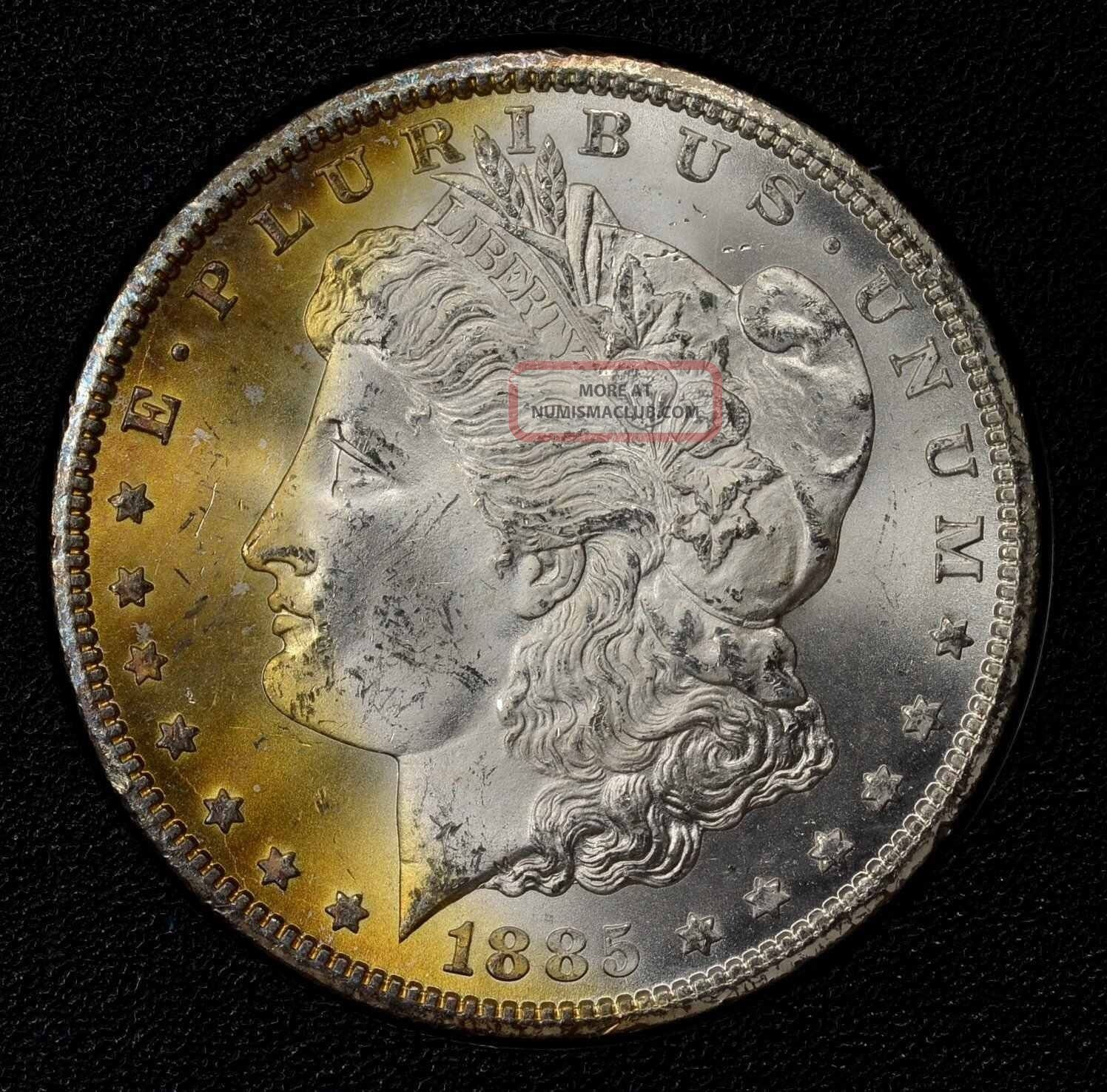 1885 Cc Gsa Morgan Silver Dollar 1 Ngc Ms64 Box