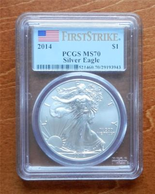 2014 Pcgs First Strike Ms70 Silver Eagle photo