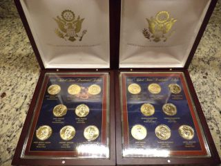 2007 2008 P D United States Commemorative Gallery Presidential Dollars photo