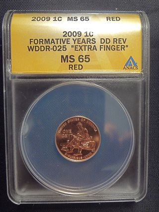 2009 P Lincoln Cent Form Yrs Wddr025 Anacs Ms65 (lp2) photo