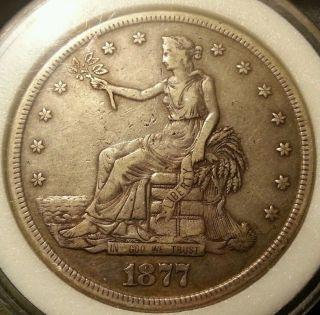 1877 - S Trade Dollar Rare photo