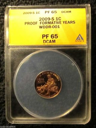 2009 S Proof Lincoln Formative Wddr - 001 Anacs Pf65 photo