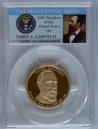 Pcgs 2011 S Proof James Garfield 20th Presidential Dollar Pr69 Usa Series photo