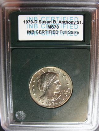 1979 - D Susan B.  Anthony Uncirculated Coin - Enslabulated photo