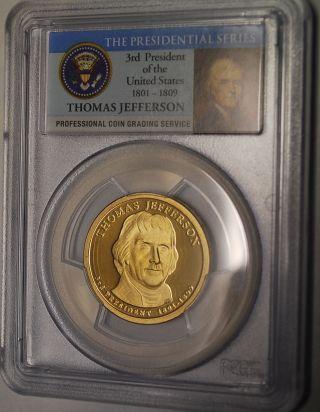 2007 - S Thomas Jefferson Dollar Pcgs Pr 70 Dcam photo