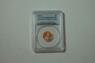 2009 - S 1c Lincoln - Formative Years (proof) Lincoln Cent,  Pcgs Pr69 Dcam photo