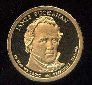 2010 - S J.  Buchanan Pf Presidential Dollar Gem Pf (166) photo