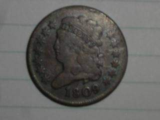 1809 Half Cent.  And Problem. photo