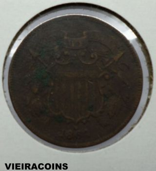 1864 Two Cent - First Year - - 3500 photo