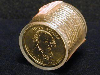 (12) 2007 - P John Adams Presidential Dollars Uncirculated Word Reserve Monetary photo