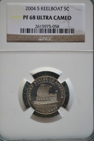 2004 - S Jefferson Keelboat Nickel 5c Ngc Pf68 Ultra Cameo photo
