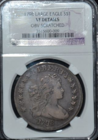 1798 Bust Dollar Vf Details Ngc - Must Look photo
