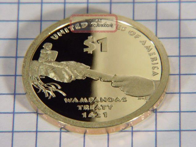 Deep Cameo 2008 Gem Proof Sacagawea Dollar