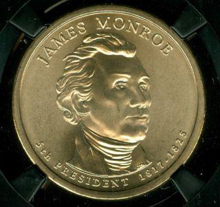 2008 - P James Monroe Dollar Ngc Ms69 Sms Finest Retro Holder Pop - 2 3686827 - 007 photo