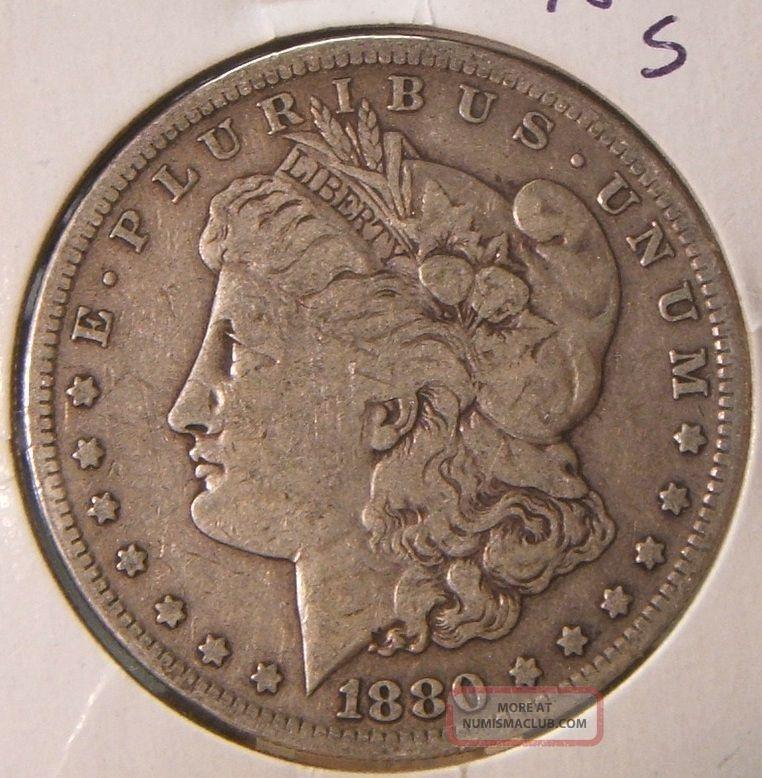 1880 S Morgan Silver Dollar Vf