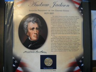 Coinhunters - 2008 Postal Commemorative Society Andrew Jackson Dollar And Stamps photo