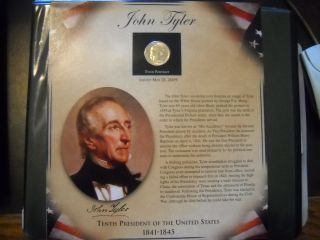 Coinhunters - 2009 Postal Commemorative Society John Tyler Dollar And Stamps photo