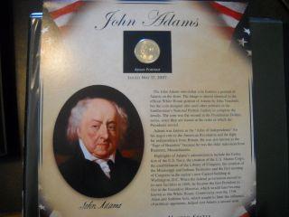 Coinhunters - 2007 Postal Commemorative Society John Adams Dollar And Stamps photo