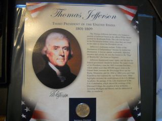 Coinhunters - 2007 Postal Commemorative Society Jefferson Dollar And Stamps photo