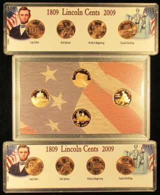 2009 Linc Bicent 1c Pr Set+p&d Bu 12 Coins+free Proof Gift photo