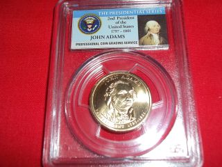 2007 - D Pcgs Ms66 John Adams,  First Day Of Issue - Position B,  11621162. photo