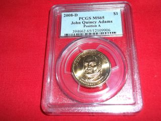 2008 - D Pcgs Ms65 John Quincy Adams,  Position A,  12109906. photo