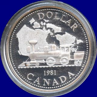 1981 Canada Proof Silver Dollar Coin (23.  3 Grams.  500 Silver) No Tax photo