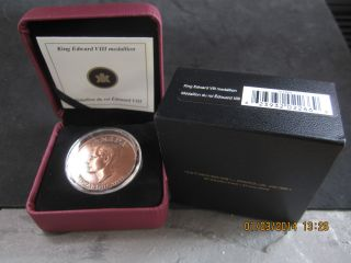 King Edward Viii Ultra High Relief Copper Medallion Specimen Canada 2009 photo