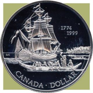 1999 Canada Silver Collector Dollar Coin (25.  175 Grams.  925 Silver) (no Tax) photo