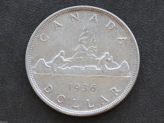 1936 Canada Silver Dollar Georgivs V Canadian Coin D3701 photo