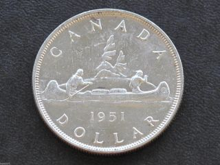 1951 Canada Silver Dollar Georgivs Vi Canadian Coin D3703 photo