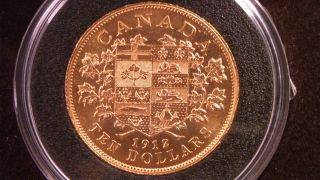 Canada 1912 Hand Selected $10 Gold Coin - Royal Canadian - Royal photo