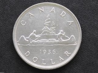 1936 Canada Silver Dollar George V Canadian Coin D3769 photo