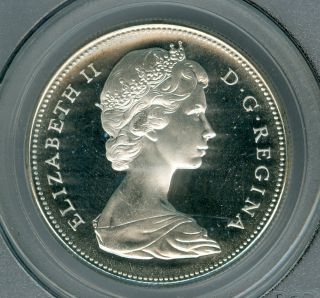 1967 Canada $1 Dollar Pcgs Pl65 + Ultra Deep Cameo photo
