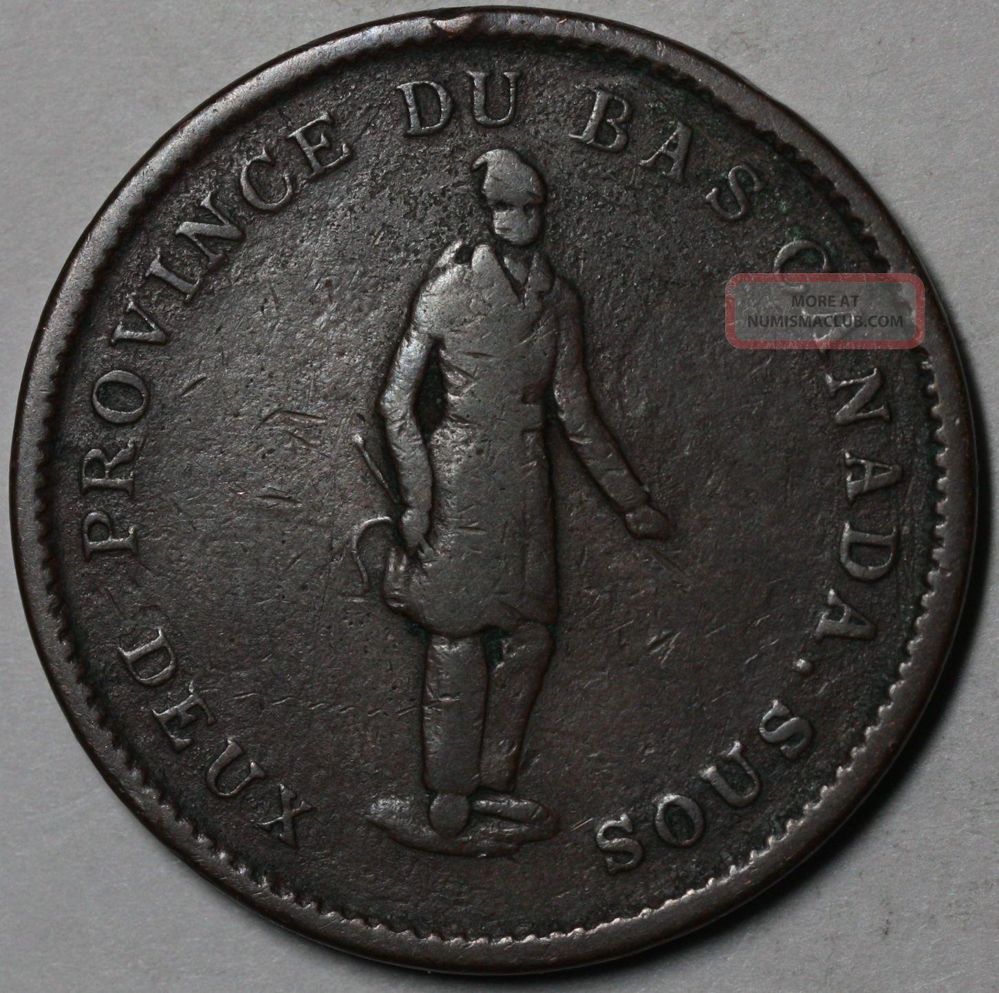1837 Province Du Bas Canada 1 Penny Bank Token Concordia