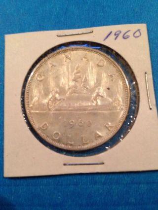 1960 Canada Silver Dollar.  800 Fine Silver photo
